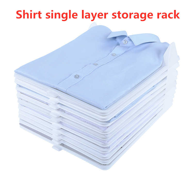 Hot10 Layers Clothes Fold Board Clothing Organization System Shirt Folder Cabinet Closet Drawer Stack Same day delivery