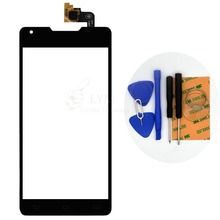 Black TP for Philips Xenium W6610 W6618 5.0″ Touch Screen Digitizer Glass Panel Sensor Replace Part No LCD Free Shipping+Tools