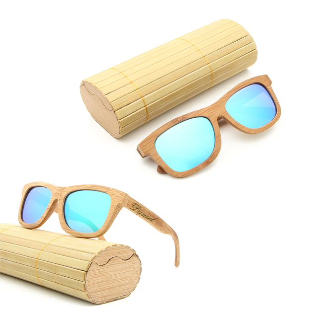 5d774a505c Personalized Engraved Bamboo Sunglasses Wood Custom Sunglasses With Case  Box Wedding Gift Favors Groomsmen Bridal Party