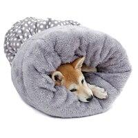 Cute Cat Sleeping Bag Mulitifunction Winter Warm Dog Cat Bed Pet Dog House Soft Rabbit Nest Puppy Mats Cushion Pet Products