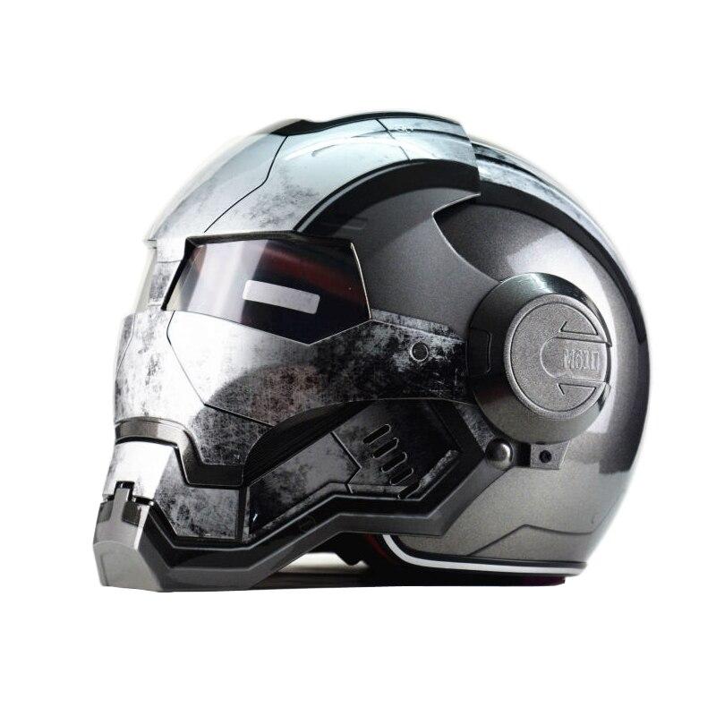 Top ABS Moto biker Helmet MASEI Iron Man personality special fashion half open face motocross helmet шлем для мотоциклистов masei abs 610