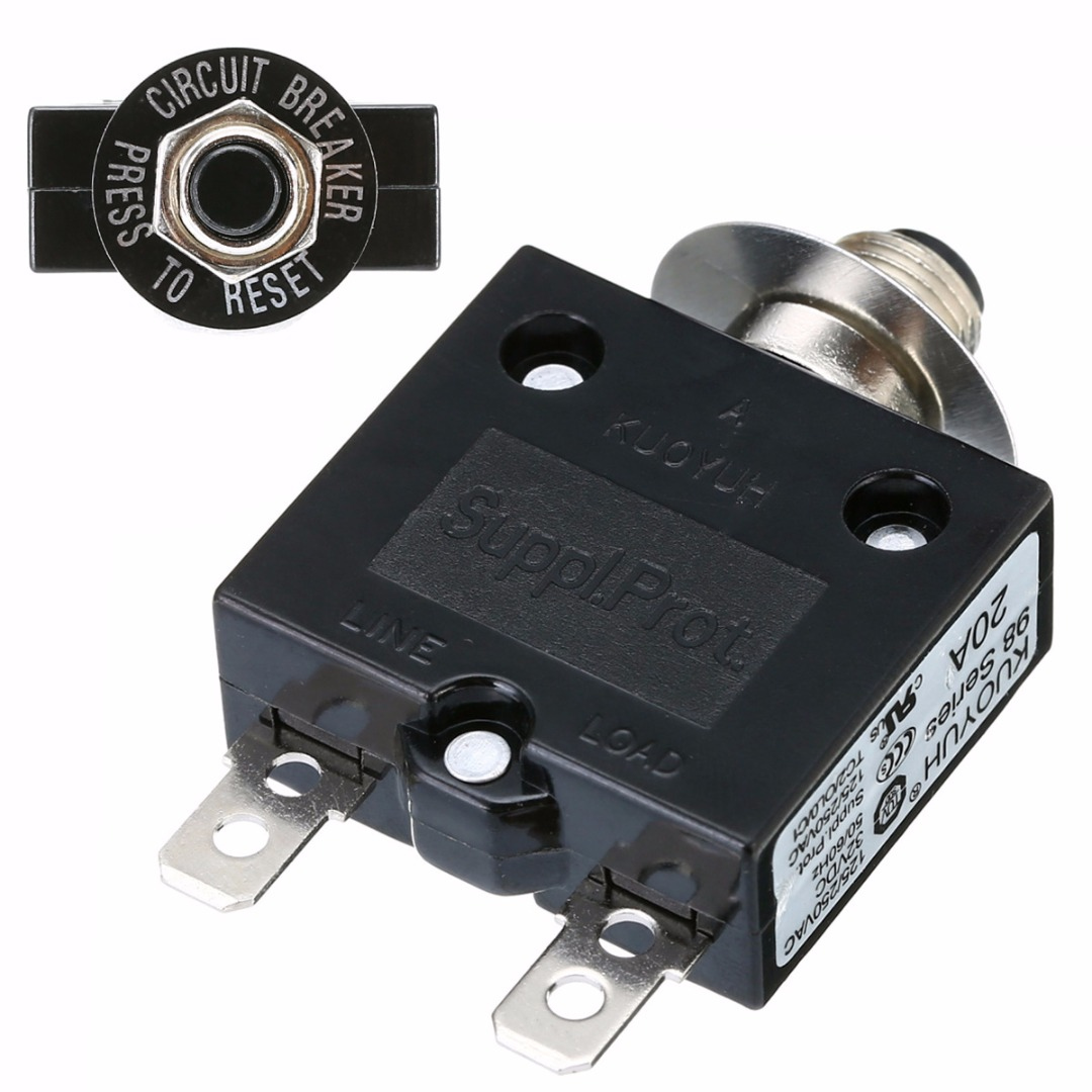 Safety Cut Out Circuit Breaker Push Button Switches 250v AC
