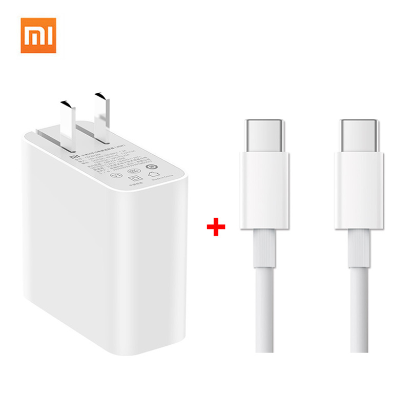 Xiaomi QC 3.0 Fast USB Charger+Typ C Data Cable 45W