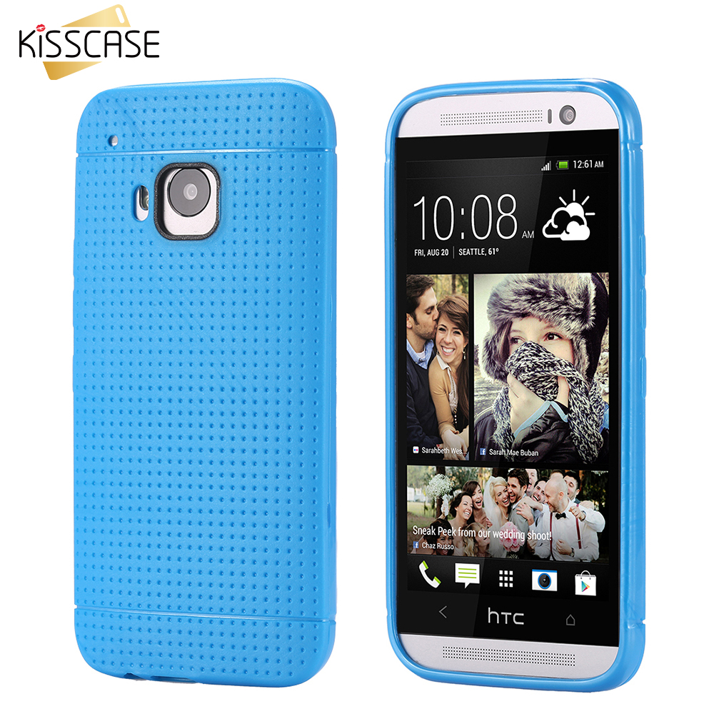 Kisscase dot tpu de gel de silicona del teléfono móvil case para htc one m9 suav