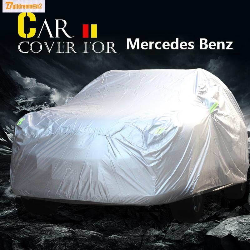 Buildreamen2 полное покрытие автомобиля внедорожник солнцезащитный козырек снег, дождь стойкого покрытия Водонепроницаемый для Mercedes Benz GLA класс...