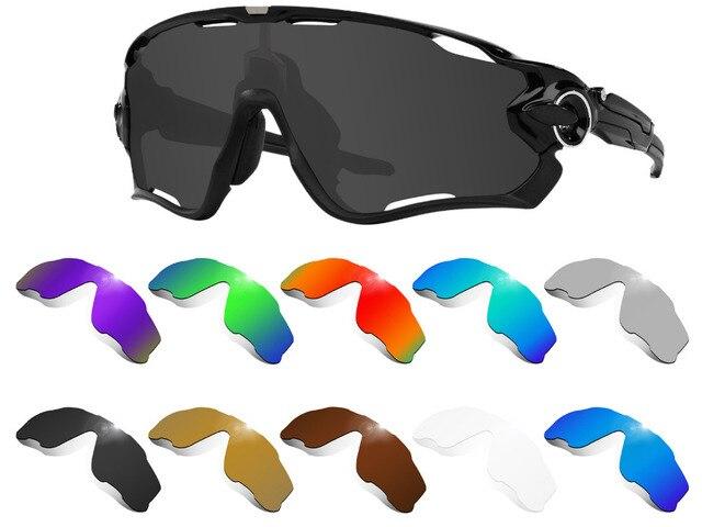 Lentes de substituição glintbay, lentes para óculos de sol oakley jawbreaker, polarizadas, várias cores