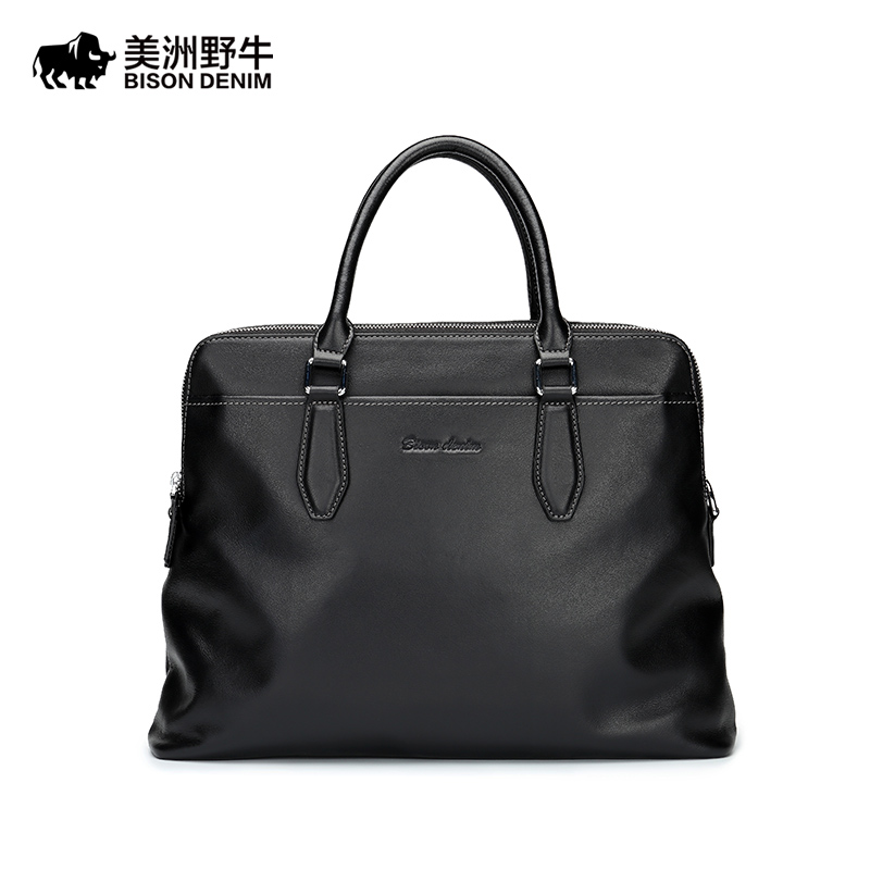 New BISON DENIM Brand Handbag Men Genuine Leather Shoulder Bag Business Tote Bag Cowhide Briefcase Men's Messenger Bag Free Ship just couture just couture ju663aweyu69