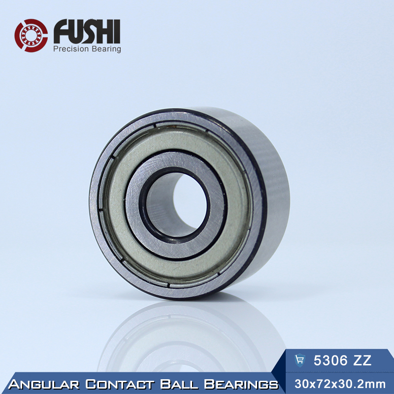 5306 ZZ Bearing 30 x 72 x 30.2 mm ( 1 PC ) Axial Double Row Angular Contact 5306ZZ 3306 ZZ 3056306 Ball Bearings