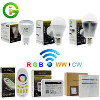 Mi Light 2 4G RF Dimmable LED Bulb AC86 265V E27 6W 9W Warm White Cold