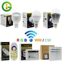 Mi Light 2 4G RF Dimmable LED Bulb AC86 265V E27 6W 9W Warm White Cold