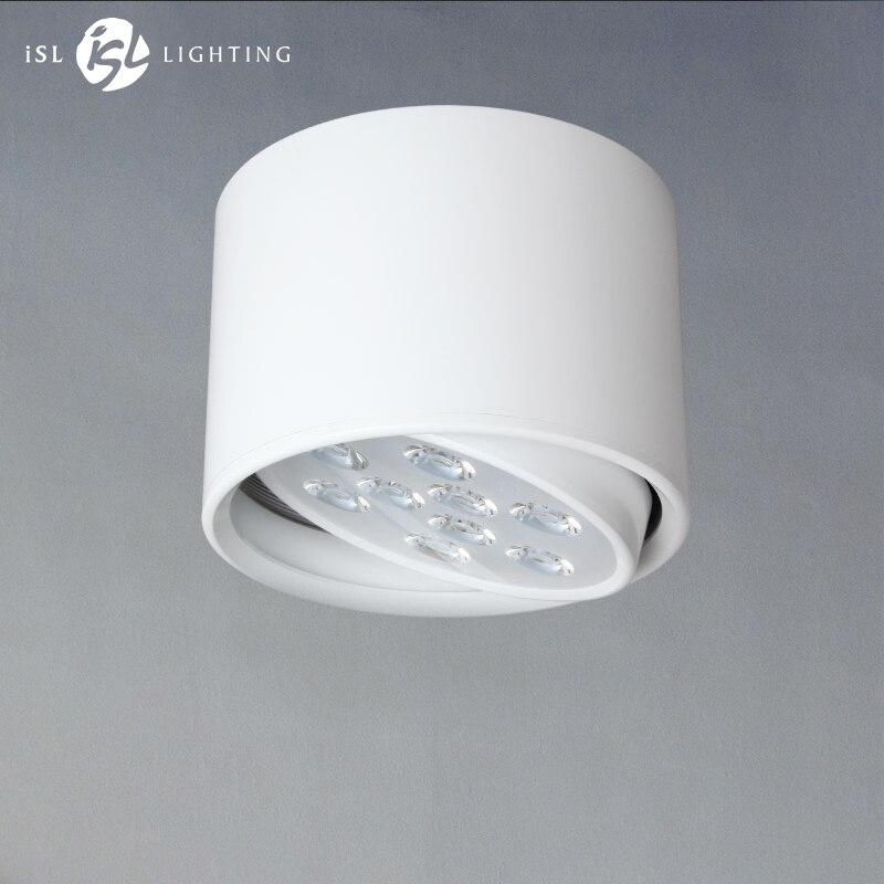 ISL LED Downlight Surface Monté Plafond Lampes Réglable AC85-260V 9 w/12 w pour Salon Chambre Bureau Commercial éclairage