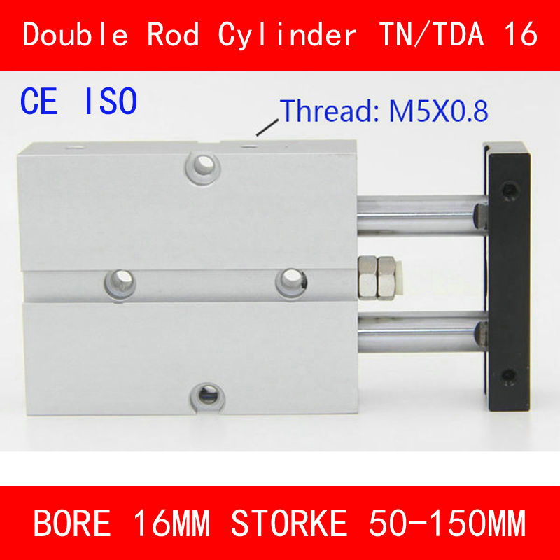 CE ISO TN10 TDA Twin Spindle Air Cylinder Bore 10mm Stroke 50-150mm Dual Action Air Pneumatic Cylinders Double Action tn25 tda twin spindle air cylinder bore 25mm stroke 10 45mm dual action air pneumatic cylinders double action pneumatic parts