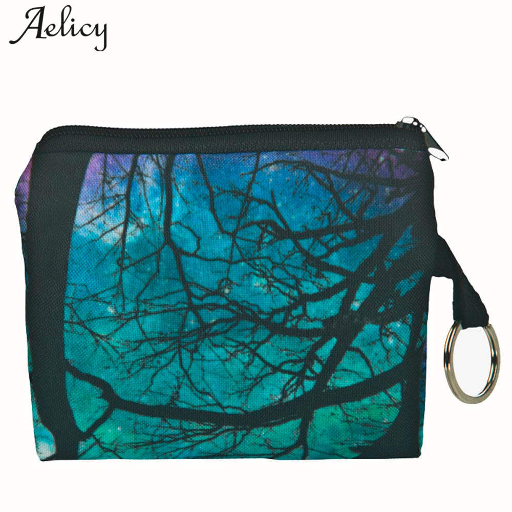 Aelicy 2018 Vintage Printing Cartoon Coin Purse Girl Clutch Wallet Women Change Purse Lady Female Mini Short Wallet Carteira