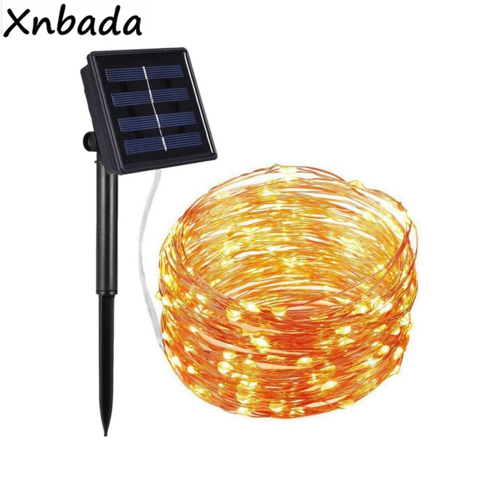 100/200LEDs Solar Lamps 8 Light Mode Outdoor String Lights Fairy Holiday Christmas Party Garland Solar Garden Waterproof Lights