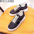 Wikileaks 2016 Women Autumn Casual Height Increasing Walking Shoes Woman Lace-Up Flat With Student Cheap Shoes Zapatos Mujer