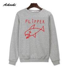 Cartoon Flipper Fish Shark Sweatshirt men brand designer Hip Hop Harajuku Luxury Hoodies Street Wear jumper Skateboards XXXXL