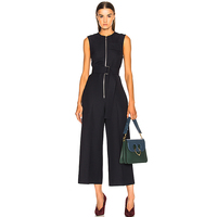 Rompers High Quality 2018 Spring Summer New Fashion Women's Party Elegant Vintage Office Casual Wide Leg Victoria Jumpsuits