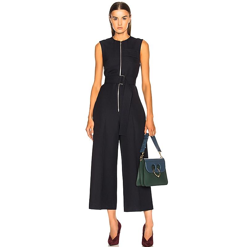 Kadın Giyim'ten Tulumlar'de Tulum Yüksek Kalite 2018 Bahar Yaz Yeni Moda kadın Parti Zarif Vintage Ofis Rahat Geniş Bacak Victoria Tulumlar'da  Grup 1