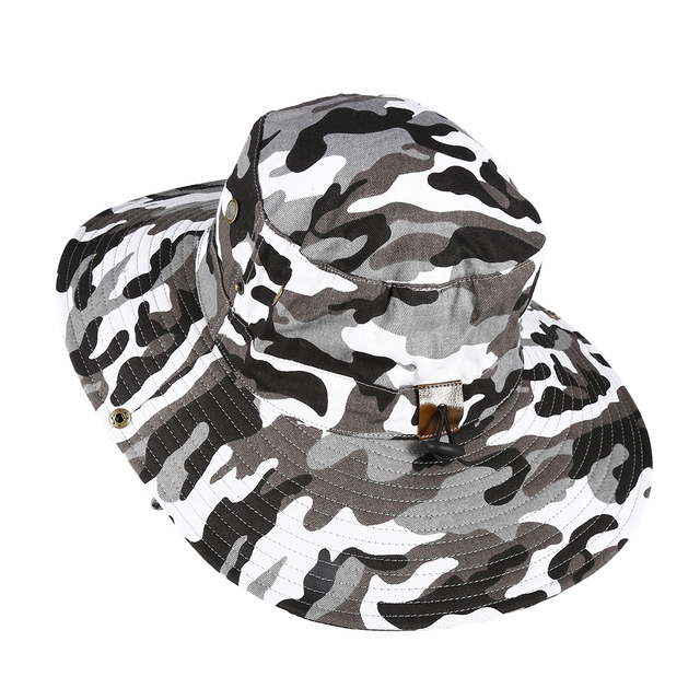 59e6f461b23 Augbistue Colorful Camouflage Boonie Hat New Bush Safari Hiking Boating  Snap Brim Hat Sun Cap Sports Fishing Outdoor Hiking Cap!