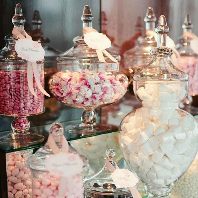 Glass Candy Jars For Wedding Decoration Canister Storage Bottle Food ...