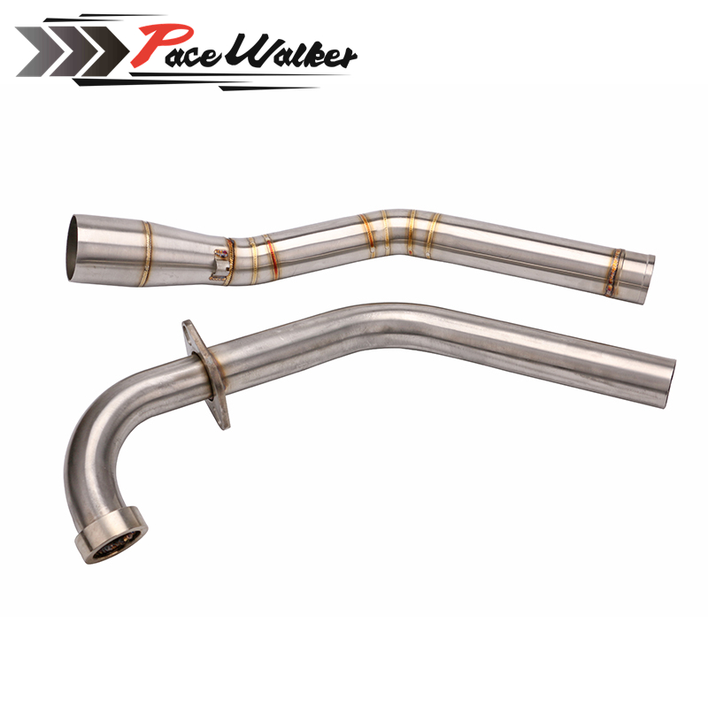 FREE SHIPPING Motorcycle Motorbike Exhaust Link Pipe Mid Pipe Down Pipe for Yamaha R15 Yamaha R15 Exhaust Pipe Muffler super c grade blade lock core 5 thickness keys class c lock cylinder length adjustable modular copper anti theft locks core
