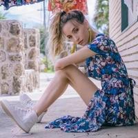 Viven Leigh Maxi Boho Dress Floral Print Sexy V Neck Butterfly Hem Summer Dresses Holiday Bohemia