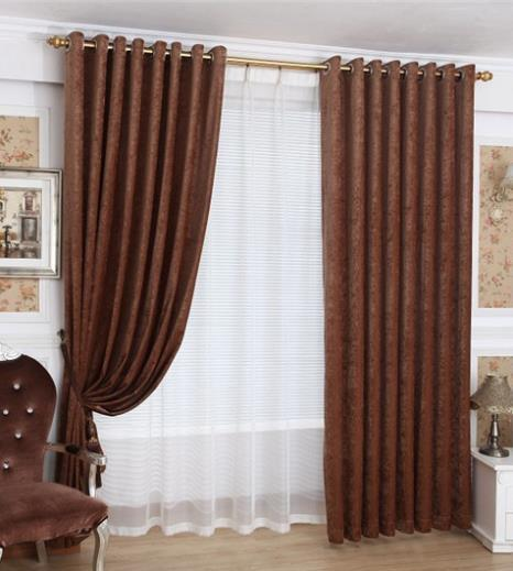 curtains for brown living room home window decoration curtain stitching chenille 18601
