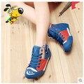 2016 crianças novas sapatilhas calçados infantis crianças sapatilhas meninas calçados meninos Frete Grátis Macio e confortável zíper Lateral 1-1177