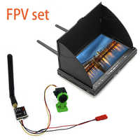 5.8G 40CH 7 Inch FPV Monitor 800x480 Build-in Battery Video Screen and 600mW video transmitter+cmos 1000TVL camera for FPV