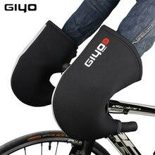 GIYO دراجة المقود قفازات الدراجات الدراجة النيوبرين شريط ينتهي شريط قفازات الشتاء الطريق دراجة نارية المقود قفازات شريط قفازات