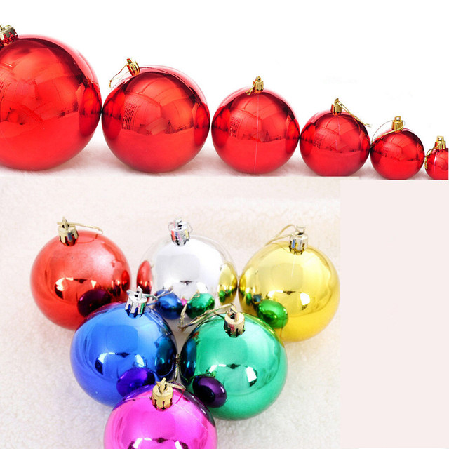 24pcs multicolor decorative theme pack of diameter 4cmchristmas balls decorations gift natal christmas ornament navidad
