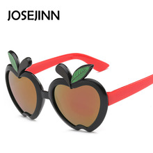 Fashion plastic frame apple shape Sunglasses Kids Designer Boys Girls party Glasses Oculos 51