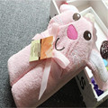 2016 Stylish design 3D animal model carpet Infant child blanket Lovely modelling of bath towel