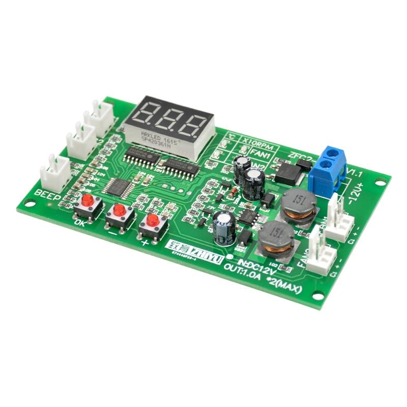 aiyima 12v dual ways 3 wire fan intelligent digital temperature rh aliexpress com