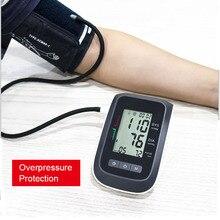 Przenośny ciśnieniomierz elektroniczny naramienny tensjometry BP mankiet nadgarstek ciśnieniomierz pulsometr czarny tonometr