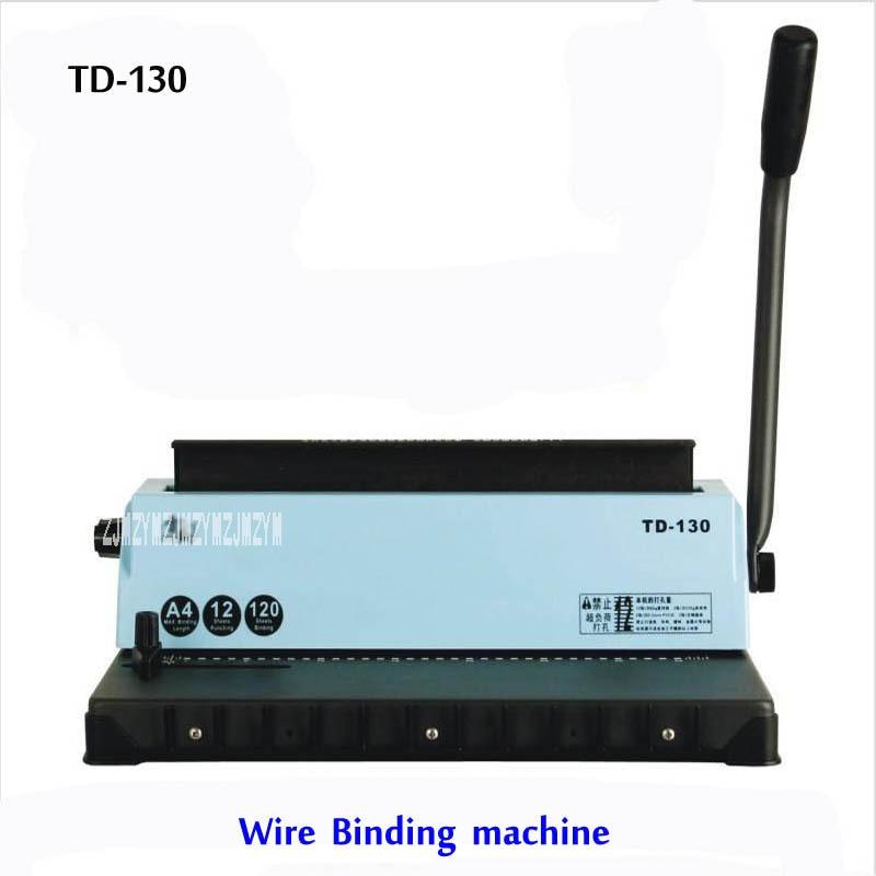 Mesin A4 mengikat kawat TD-130, mesin kecil kapasitas besar. - Elektronik kantor