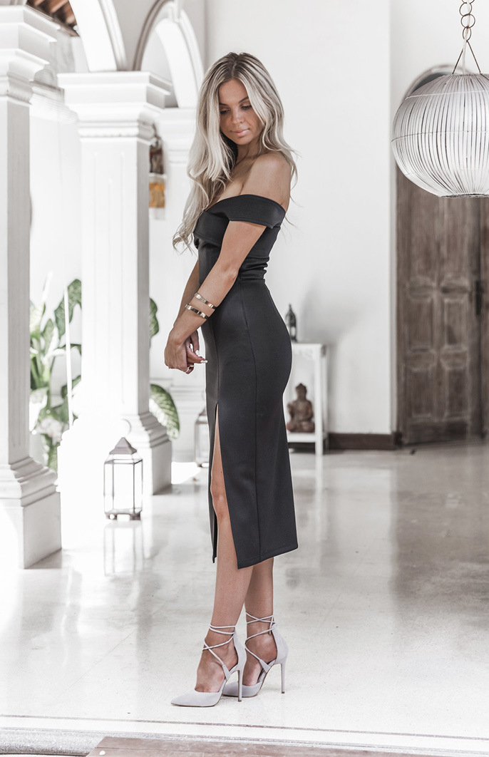 Vestidos 2017 New Style Summer Women Black White Dress Off Shoulder Sexy Casual Dress Slash Neck Knee Length Party Dresses 11