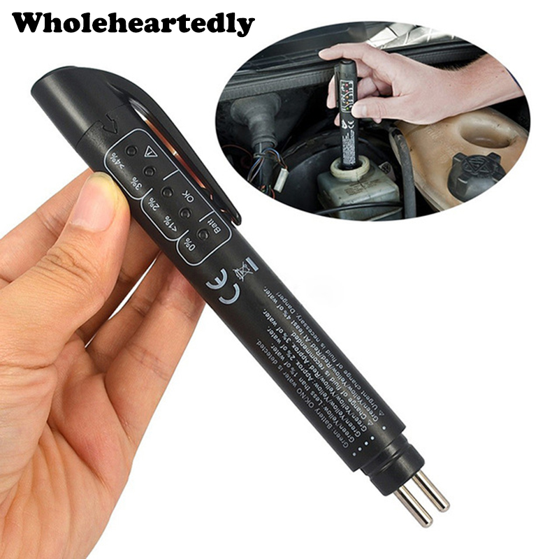 <font><b>Car</b></font> Detector Brake Fluid Tester Pen 5 LED Auto Vehicle Automotive Testing <font><b>Tool</b></font> Diagnostic <font><b>Tools</b></font> <font><b>Electronic</b></font> Pen For DOT3/DOT4/5.1 image
