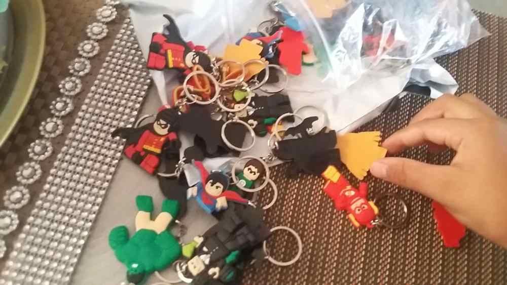 1 cái Công Lý Giải PVC Móc Khóa Anime Móc Khóa Siêu Anh Hùng Móc Khóa Thời Trang Trượng Siêu Nhân BatMan Chìa khóa Trẻ Em Quà Tặng