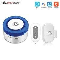 Tuya Smart home security wifi alarm siren for smart life free APP compatible 433Mhz Alarm Sensors
