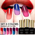 Azure Beauty 3Pcs/Lot 7ML Fashion Temperature UV Nail Gel Polish Change Color Thermo UV Nail Gel Varnish Chameleon Nail Gel Lak