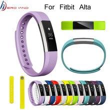 Correa de silicona de repuesto para reloj Fitbit Alta HR, 14 colores, correa de silicona de Alta calidad