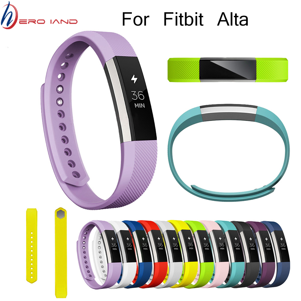 14 Colors Silicone Watchband High Quality Replacement Wrist Band Silicon Strap Clasp For Fitbit Alta HR Smart Wristband Watch image