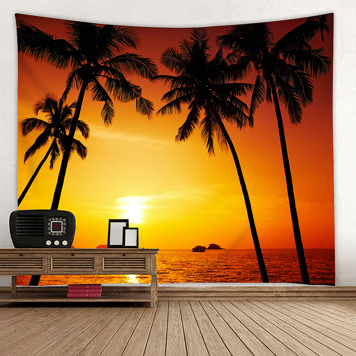 Summer Sunset Beach Sunrise Beach Wall Hanging Decor Art Wall Decoration Summer Beach Ca ...