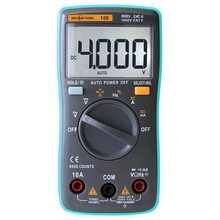 купить KKMOON Digital Multimeter True RMS DMM DC/AC Voltage Current Resistance Diode Continuity Capacitance Frequency Duty Tester по цене 911.84 рублей