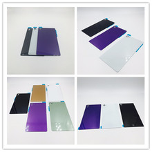 RTBESTOYZ Rear Door Battery Back Housing Glass Replacement Cover Case For Sony Xperia Z L36H Z1 Z2 Z3 With Logo