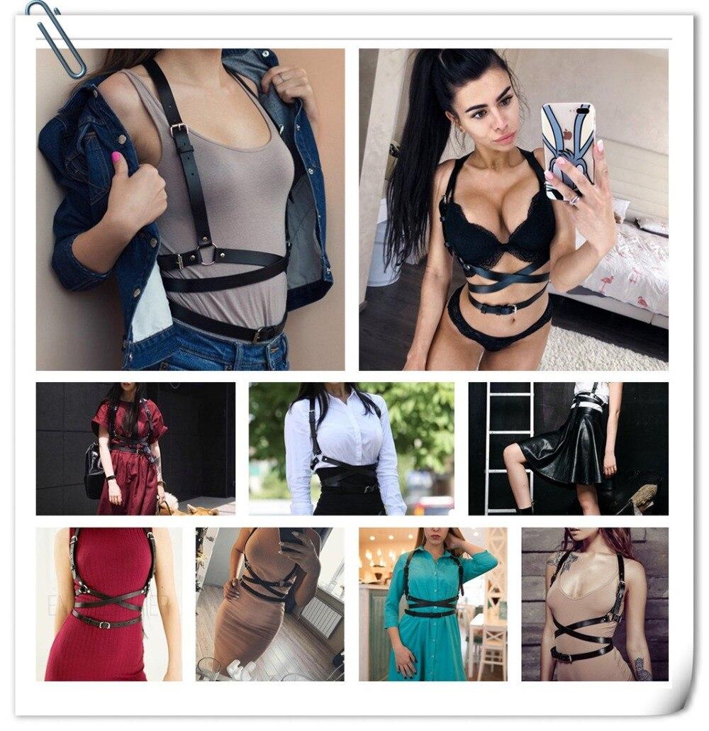 UYEE Трендовое сексуальное женское белье ремень Регулируемый кожаный подвязка для женщин эротический пояс для тела подтяжки жгут LB-007