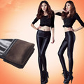 Autumn and winter plus velvet thickening matt faux leather pants fleece thermal legging plus size female trousers