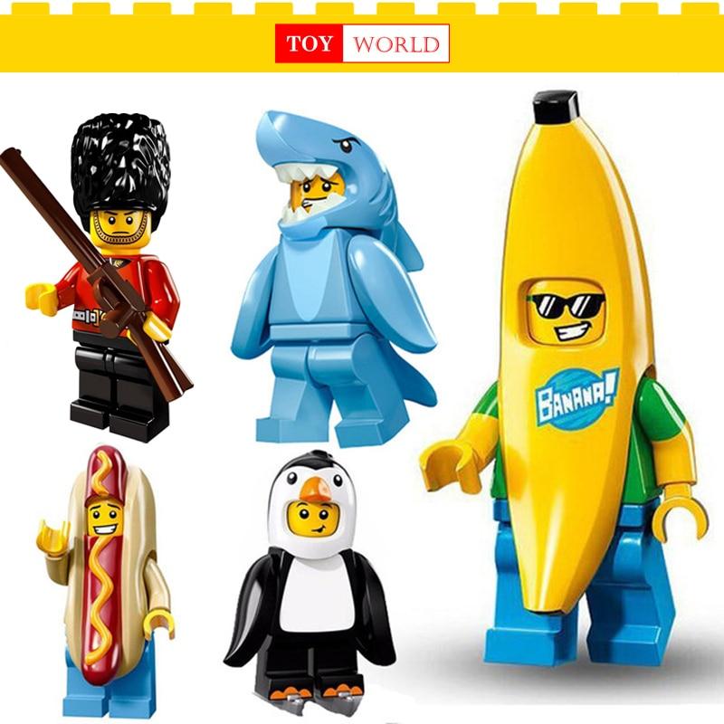 Single Sale brick font b Figures b font Banana guy Sausage man Building Blocks Compatible With