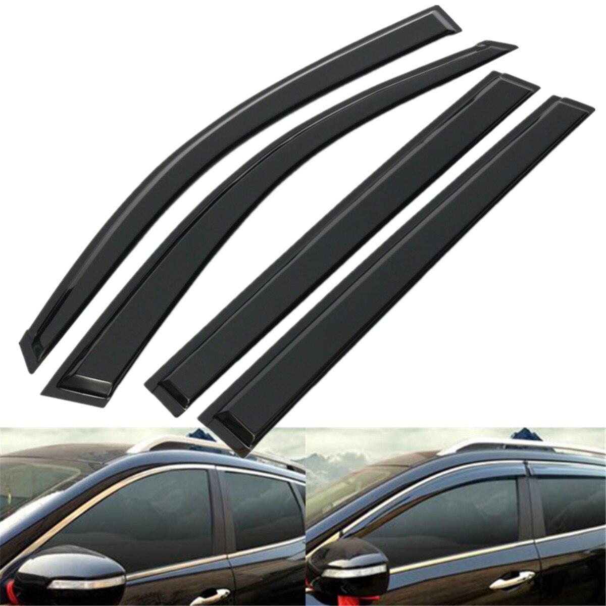 Black sun window visor rain guard set fits for toyota highlander 2008 2012 china